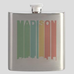 Vintage Madison Cityscape Flask