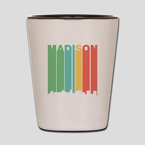 Vintage Madison Cityscape Shot Glass