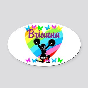 CUSTOM CHEERING Oval Car Magnet