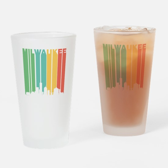 Vintage Milwaukee Cityscape Drinking Glass