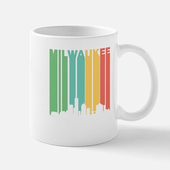 Vintage Milwaukee Cityscape Mugs