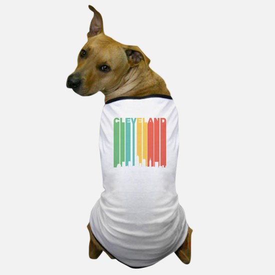 Vintage Cleveland Cityscape Dog T-Shirt