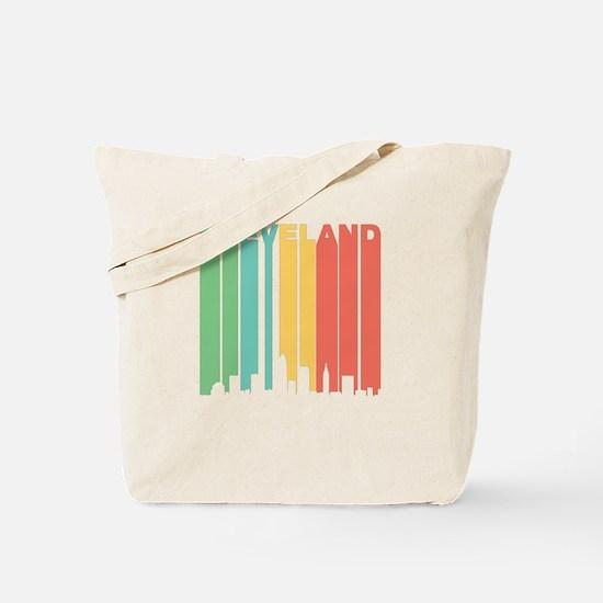 Vintage Cleveland Cityscape Tote Bag