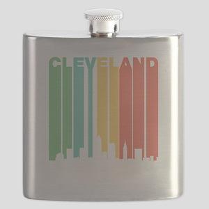 Vintage Cleveland Cityscape Flask