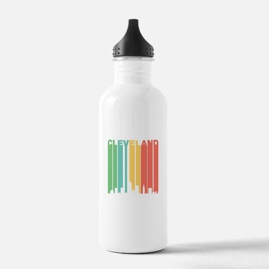 Vintage Cleveland Cityscape Water Bottle