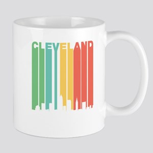 Vintage Cleveland Cityscape Mugs