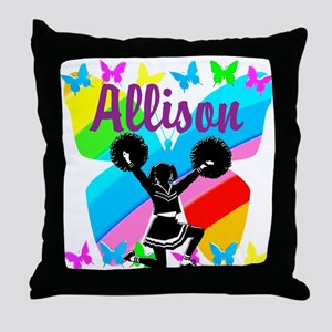 CUSTOM CHEERING Throw Pillow