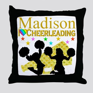 CUSTOM CHEERING Throw Pillow