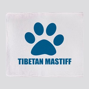 Tibetan Mastiff Dog Designs Throw Blanket