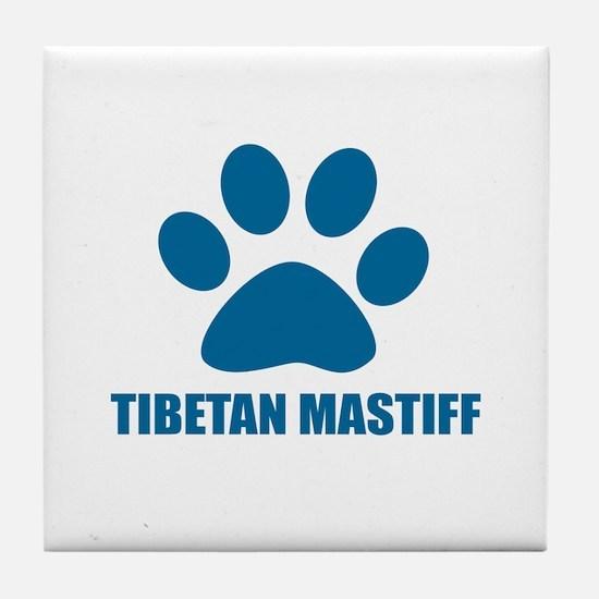 Tibetan Mastiff Dog Designs Tile Coaster