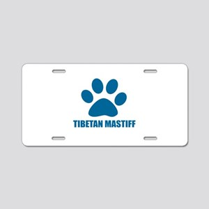 Tibetan Mastiff Dog Designs Aluminum License Plate