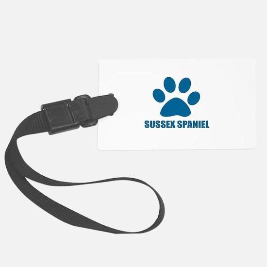 Sussex Spaniel Dog Designs Luggage Tag