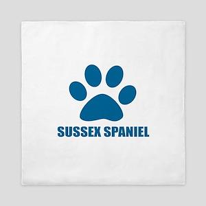 Sussex Spaniel Dog Designs Queen Duvet