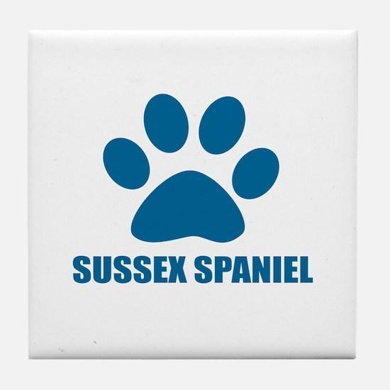 Sussex Spaniel Dog Designs Tile Coaster