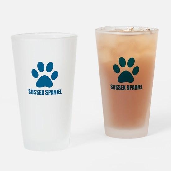 Sussex Spaniel Dog Designs Drinking Glass