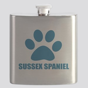 Sussex Spaniel Dog Designs Flask