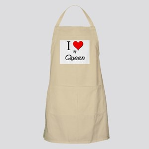 I Love My Queen BBQ Apron