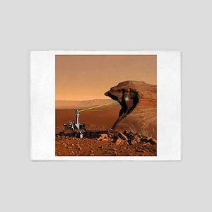 Mars Rover Laser 5'x7'Area Rug