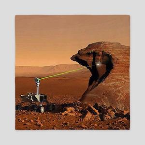 Mars Rover Laser Queen Duvet