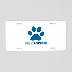 Sussex Spaniel Dog Designs Aluminum License Plate