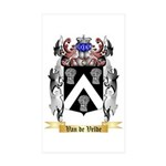 Van de Velde Sticker (Rectangle 10 pk)