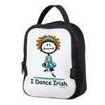 Dance Irish Stick Figure Neoprene Lunch Bag