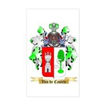 Van de Castele Sticker (Rectangle)