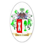 Van de Castele Sticker (Oval)