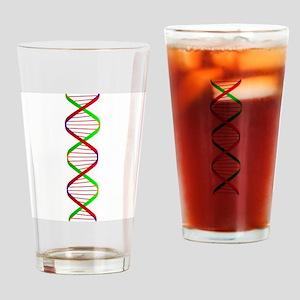DNA Twin Spiral Drinking Glass