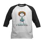 Dance Irish Stick Figure Kids Baseball Jersey