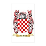 Van Beek Sticker (Rectangle 10 pk)