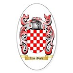 Van Beek Sticker (Oval 50 pk)