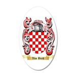 Van Beek 20x12 Oval Wall Decal