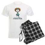 Dance Irish Stick Figure Men's Light Pajamas
