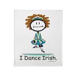 Dance Irish Stick Figure Throw Blanket