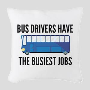 Busiest Jobs Woven Throw Pillow