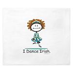 Dance Irish Stick Figure King Duvet