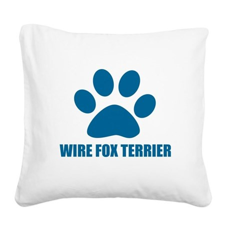 Wire Fox Terrier Dog Designs Square Canvas Pillow