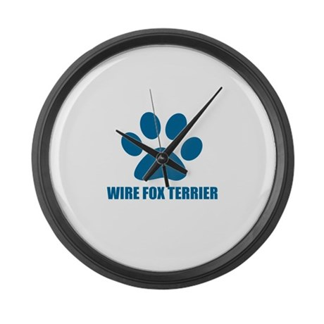 Wire Fox Terrier Dog Designs Large Wall Clock