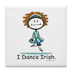 Dance Irish Stick Figure Tile Coaster