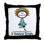 Dance Irish Stick Figure Throw Pillow