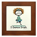 Dance Irish Stick Figure Framed Tile