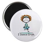 Dance Irish Stick Figure Magnet