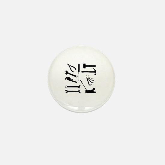 Cute Wrench Mini Button