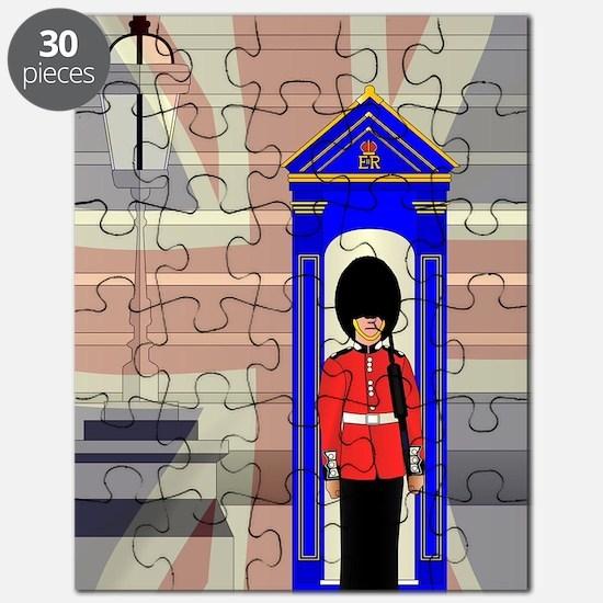 Cute London post box Puzzle