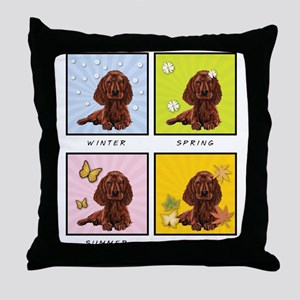 4 Seasons Setter Throw Pillow