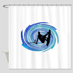 WAKEBOARD Shower Curtain