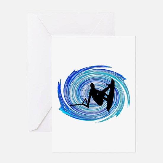 WAKEBOARD Greeting Cards