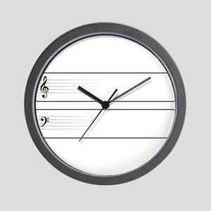 Bass And Treble Clef Web Buttons Wall Clock