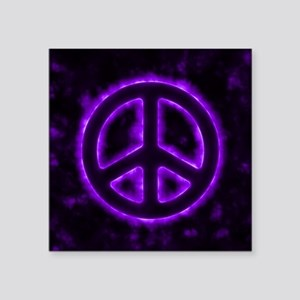 Purple Peace Sign Sticker